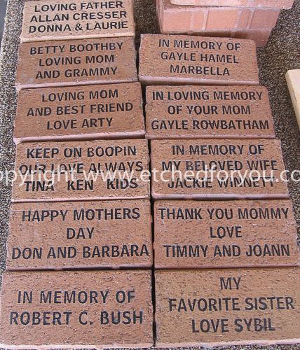 Engraved paver brick