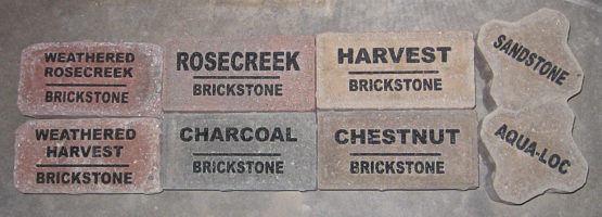 Engraved pavers